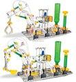Modelo em escala liga pneumático montagem veículo comandante ferro Metal modelo de construção brinquedos educativos kit