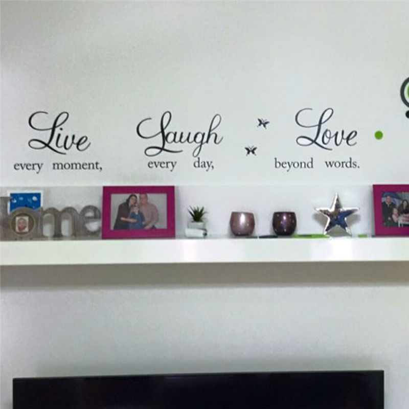Live laugh love quotes wall decals zooyoo1002 home for Stickers para pared