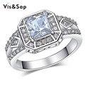Площадь cz алмазный новый панк кольцо Белого позолоченные ювелирные Изделия обручальные Свадебные Подарки Кольца Для мужчин высокое качество VSR169