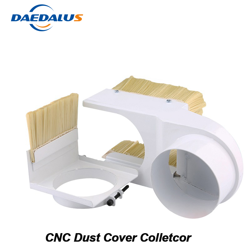 80MM Diameter Dust Cover Collector 65MM/100MM Dust Cover CNC Brush For Spindle Motor Milling Machine Router Woodworking Tools