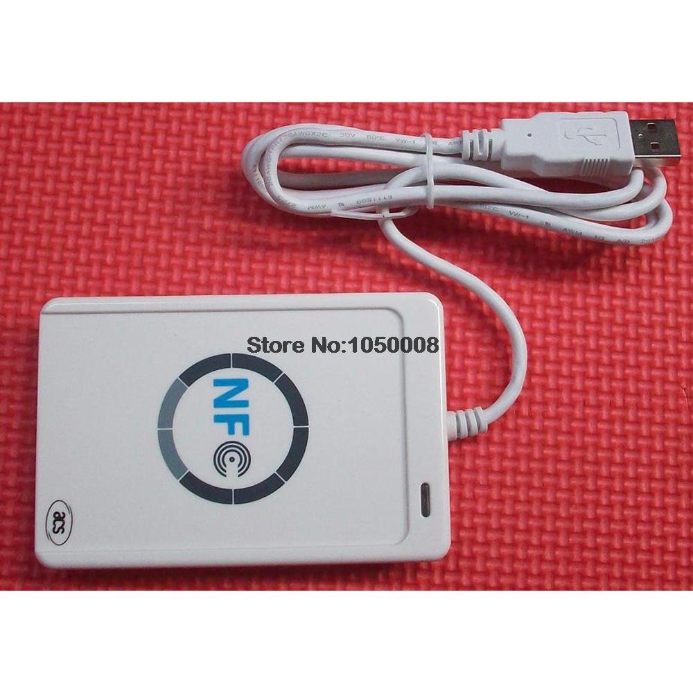 bilder für USB ACR122U NFC RFID Smart Card Reader Writer Für alle 4 arten von NFC (ISO/IEC18092) Tags + 5 stücke M1 Karten + 1 SDK CD