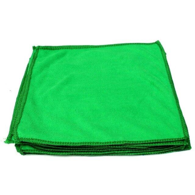 10 шт. зеленый микрофибры чистка полотенце волокна автомобили полотенце для рук ткань мытья для автомобилей
