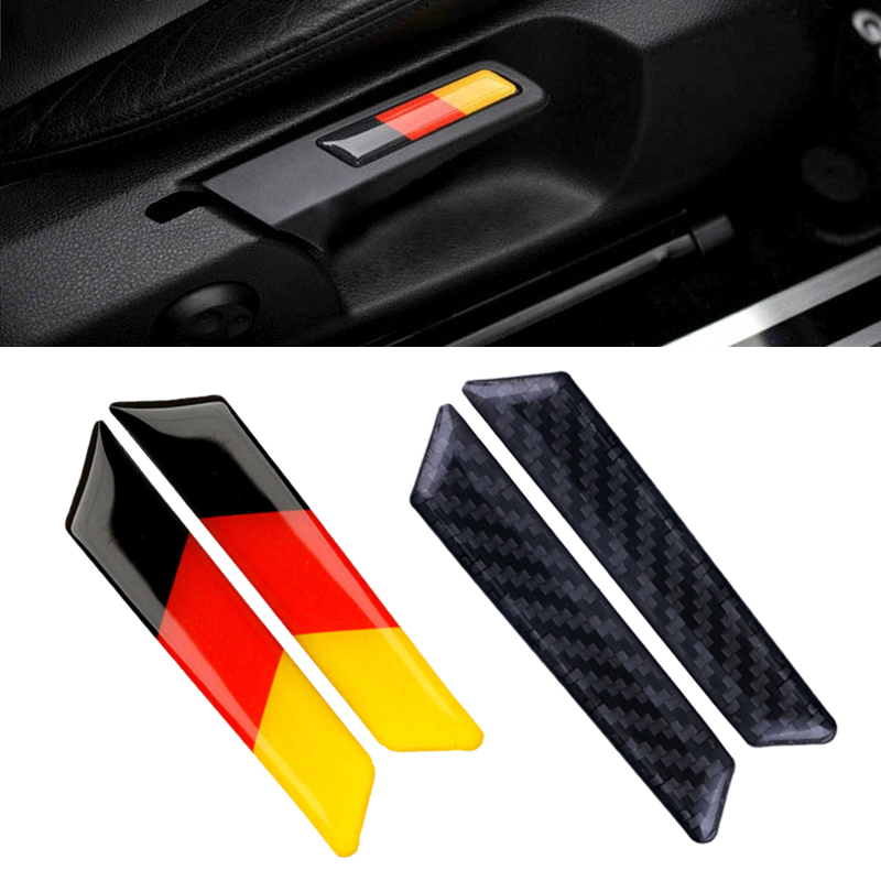 2Pcs Car Styling Carbon Fiber Sticker Lift Wrench Handle Seat Insert Trim Cover For Volkswagen VW Golf 5 6 MK5 MK6 GTI