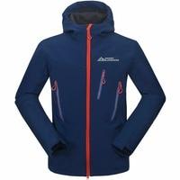 Mammoth Outdoor Sport Windproof Rain Coat Male Trekking Windbreaker Winter Ski Tech Fleece Waterproof Men's Softshell Jacket