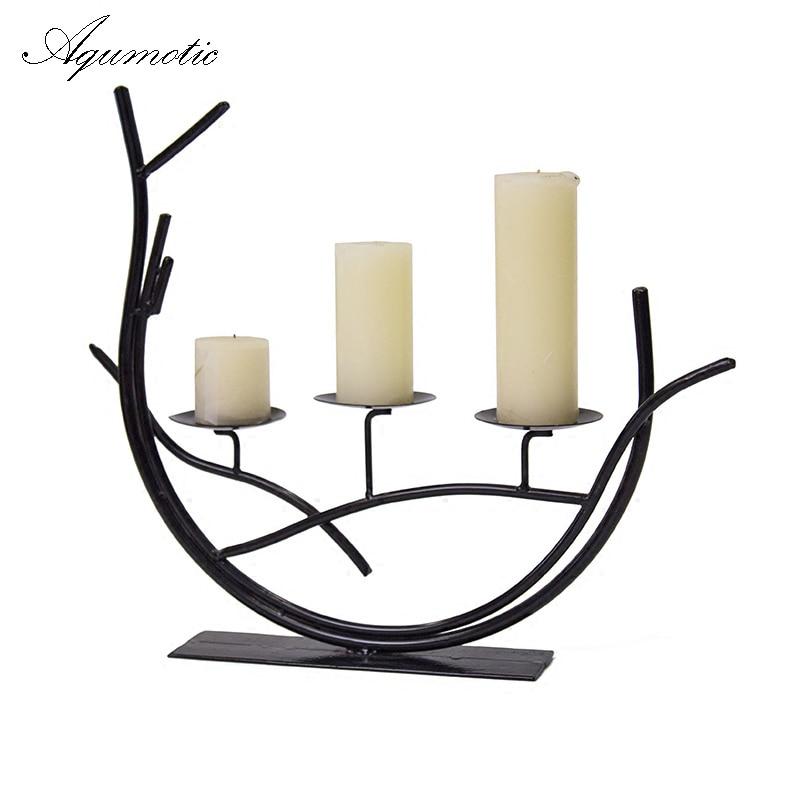 Comprar ramas aqumotic cena rom ntica - Portavelas de hierro ...