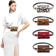 Искусственная кожа поясная сумка для путешествий набедренная сумка женская модная леопардовая сумка на пояс