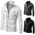 2017 Outono Novas Jaquetas Para Homens Outwear Coats Plus Size Botões Finos Casacos Homens XAN001