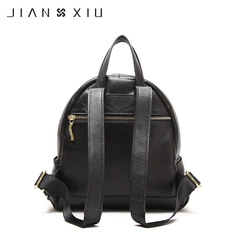 jianxiu marca mochila mochila feminina Material Principal : Couro Genuíno