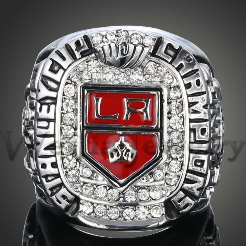 New Arrival NHL 2012 LA Los Angeles Kings Stanley Cup Championship Sports Hockey Rings For Men Free Shipping J02027