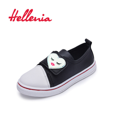 Hellenia Spring Kids Shoes Girls Children causal shoes boys hook loop black pink white comfortable slip on loafers size 26-36