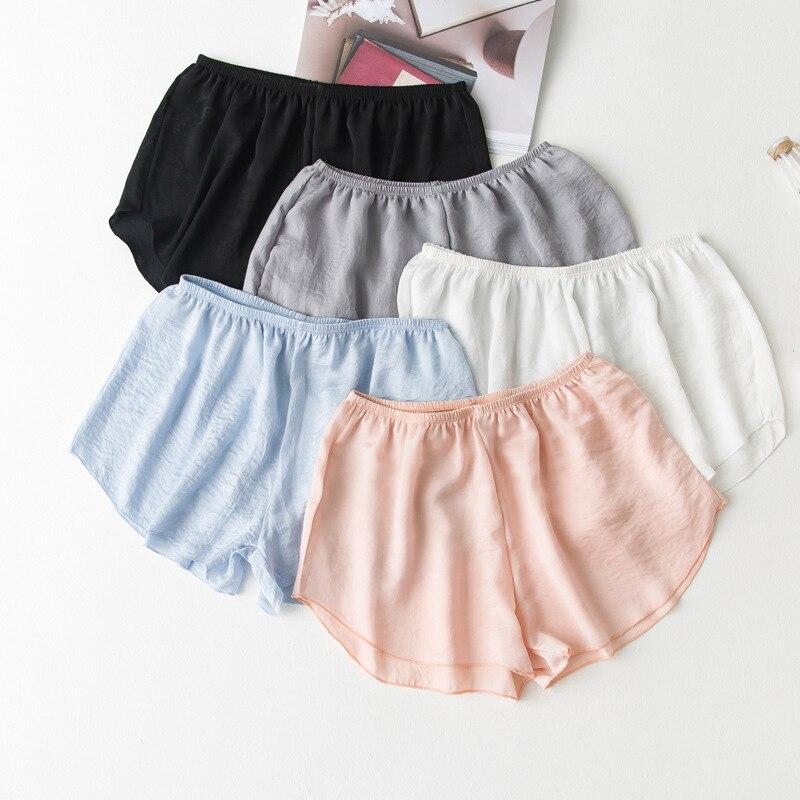Beach Seamless Safety Shorts Pants Summer Silk Panties Girl Briefs Underwear Under Skirt Shorts Sleepwear Lingerie Women