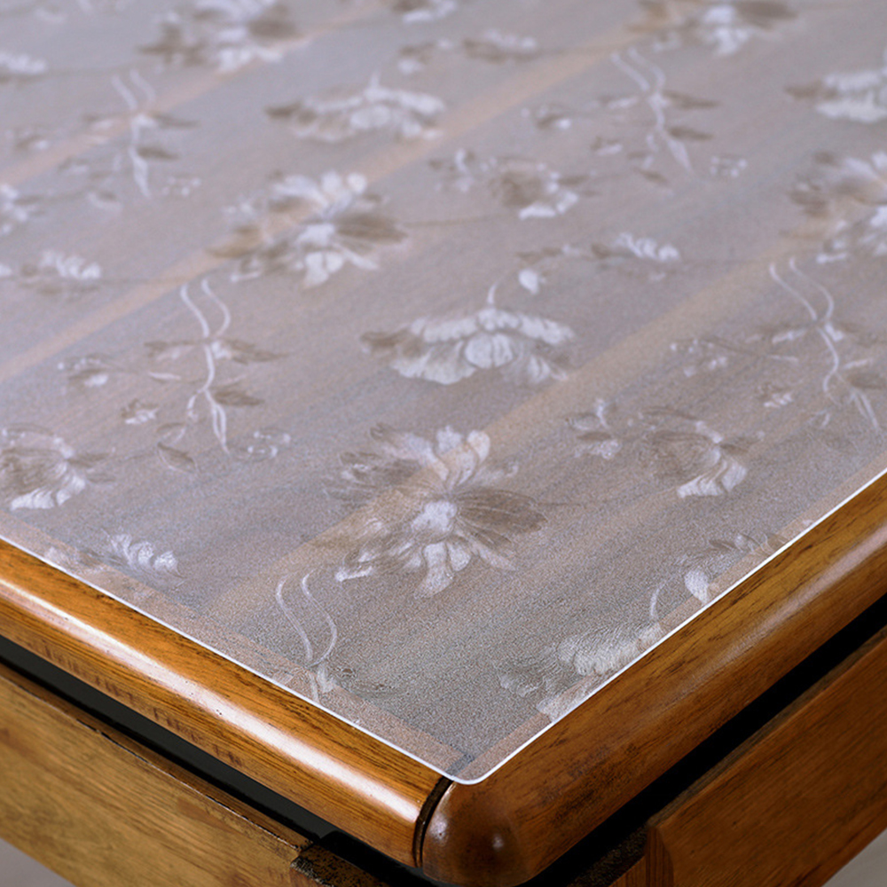 Yazi Lotus ПВХ Водонепроницаемый прозрачный скатерти анти-нефть посуда мат столовых площадку покрытие стола Толщина 1,5 мм
