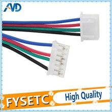 DuPont hattı HX2.54 4pin 50 cm veya 80 cm veya 100 cm için 6pin Beyaz Terminali step Motor kablosu için Step Motor 3d yazıcı
