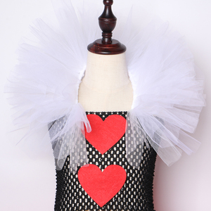 Image 5 - מלכת לבבות טוטו שמלת ילדה ילדים ליל כל הקדושים קרנבל שמלה אדום ושחור לבן מלכת אליס Cosplay תלבושות בנות המפלגה שמלה