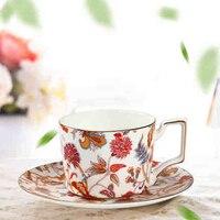 Европа ручка чайные чашки под старину пара костяной фарфор Британский чай кофейная чашка и блюдце набор китайский фарфор роскошный костяно