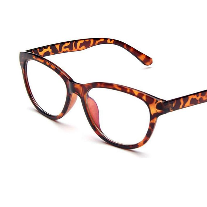 Gafas de Marco Marca Diseño leopardo Gafas mujeres informáticos UV ...