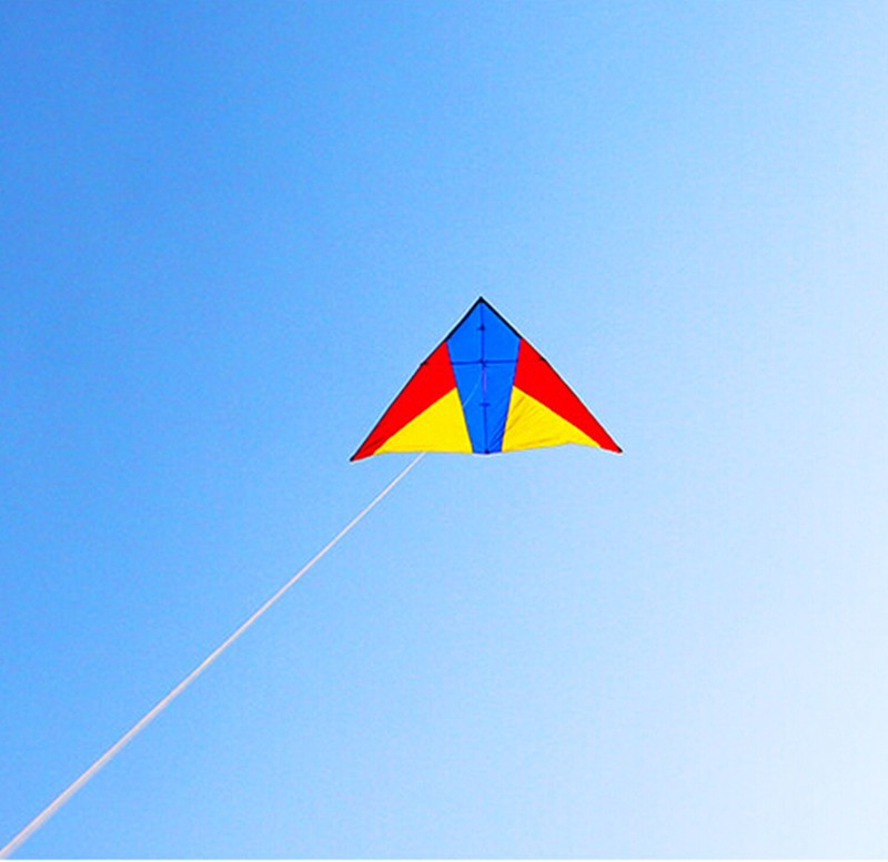 Высокое качество Новинка 2,6 м delta кайт Парашют Нейлон ripstop выбрать как цвета с ручкой линии outdoortoys