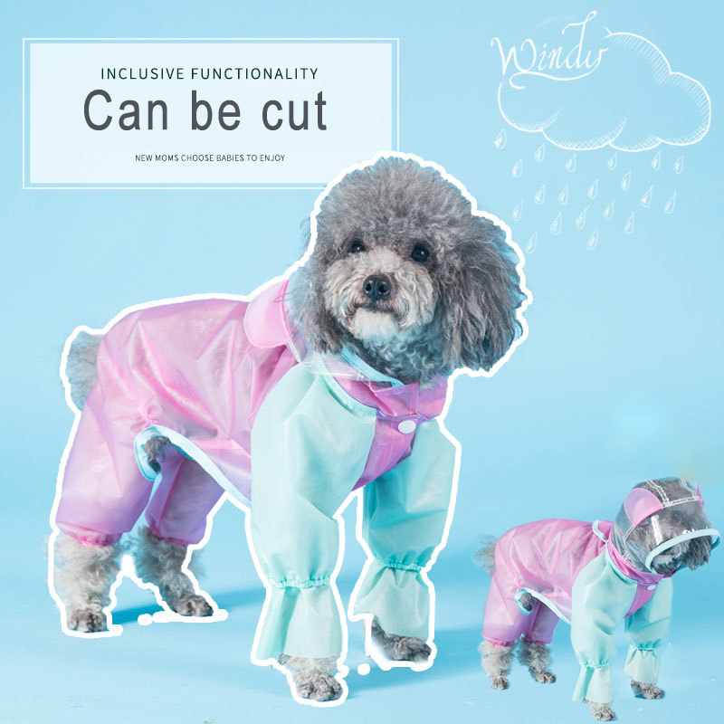 Puppy Pet Rain Coat XS-XL Waterproof Jackets PU Raincoat For Dogs Clothing Puppy Casual