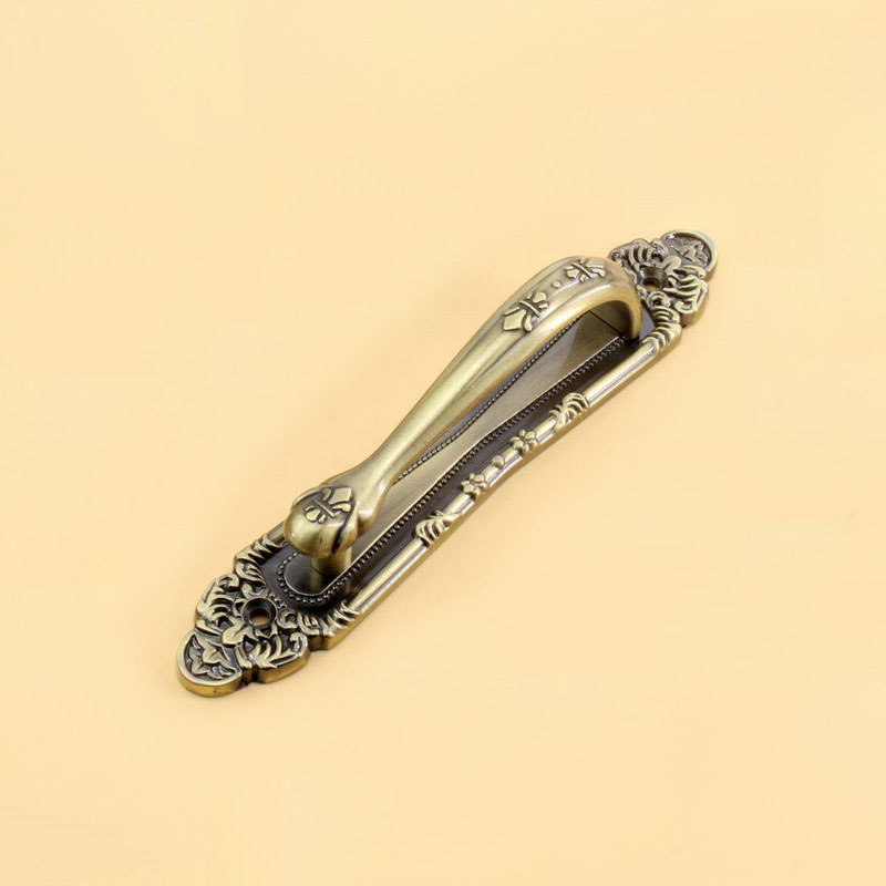 Fashion Design Antique Copper Handle With The Villa Door To Open The Door The Door Handle Contact(C.C.:187mm,Length:248mm) 161 vertical single potentiometer w100k b50k associated with the midpoint of the handle length 20mmf