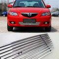 Centro Frontal em alumínio Billet Corrida Grills Grille Capa Para Mazda 3 2007-2009