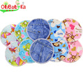 OhBabyKa Nursing Breast Pads Washable Baby Nursing Pad Bamboo Product Pregnant Ruseable Postpartum Breast Feeding Nursing Pads