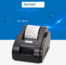 pos printer Black and white Wholesale High quality 58mm thermal receipt printer machine printing speed 90mm / s USB interface