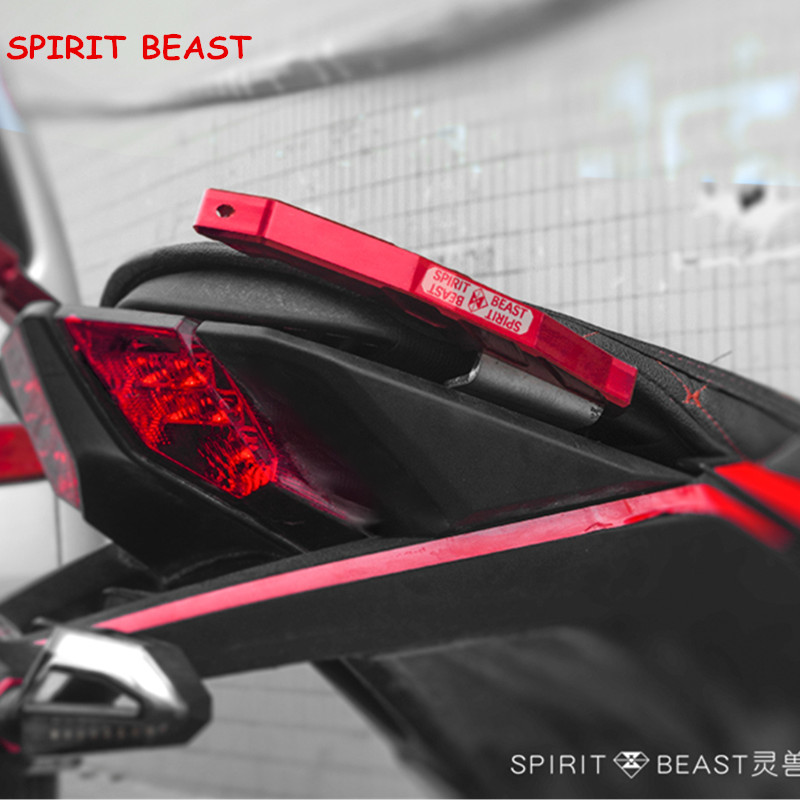 Spirit Beast Motorcycle Accessories CB190 tail handrail CNC aluminum alloy personality rear armrest motorbike styling Free ship велотренажер spirit fitness xbr25 2017
