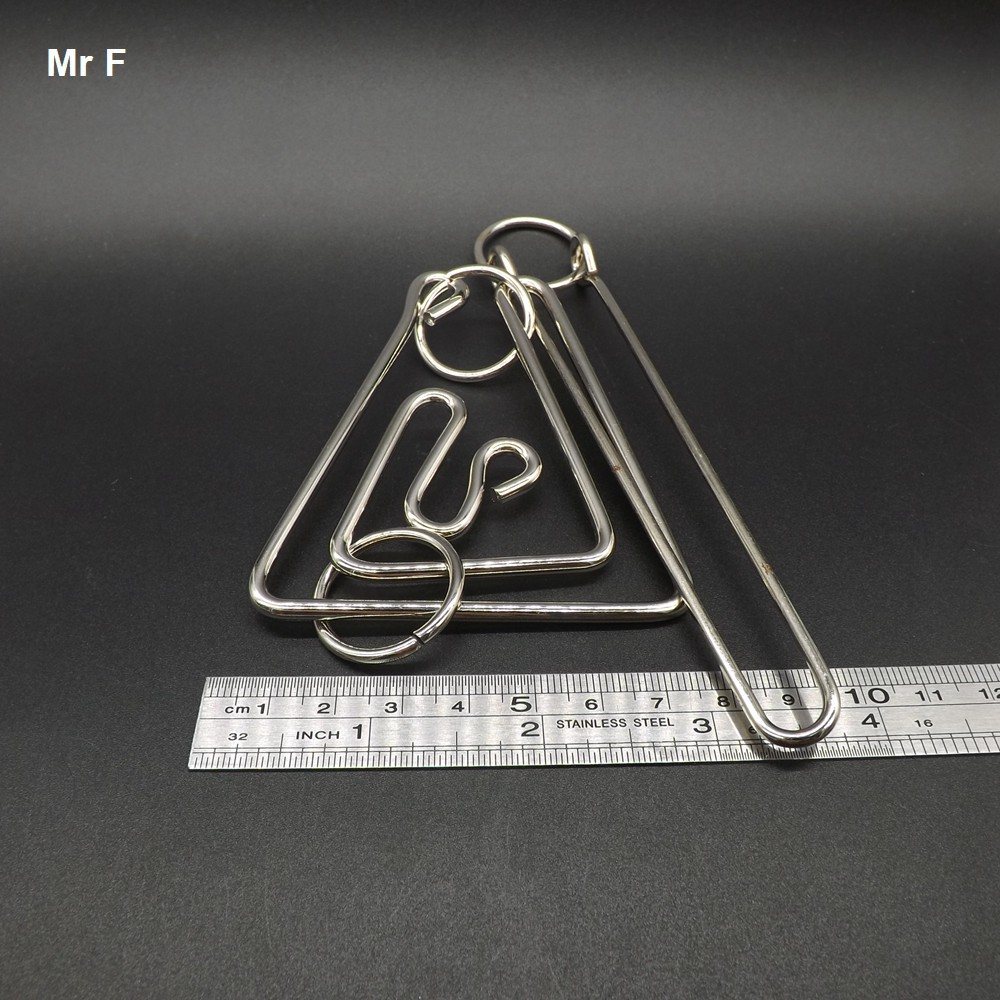 Big Triangle Ring Puzzle Wire Magic High Difficulty Metal Brain