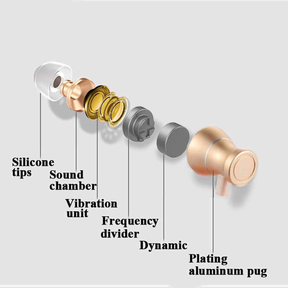インイヤー低音サウンドイヤホンヘッドセットヘッドフォンコントロール磁気透明度ステレオサウンドイヤホンと Iphone の携帯電話 MP3