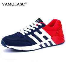 VAMOLASC New Men Sport Running Shoes Breathable PU Sneakers Comfortable DMX Outdoor Walking Shoes Cushioning Athletic Shoes