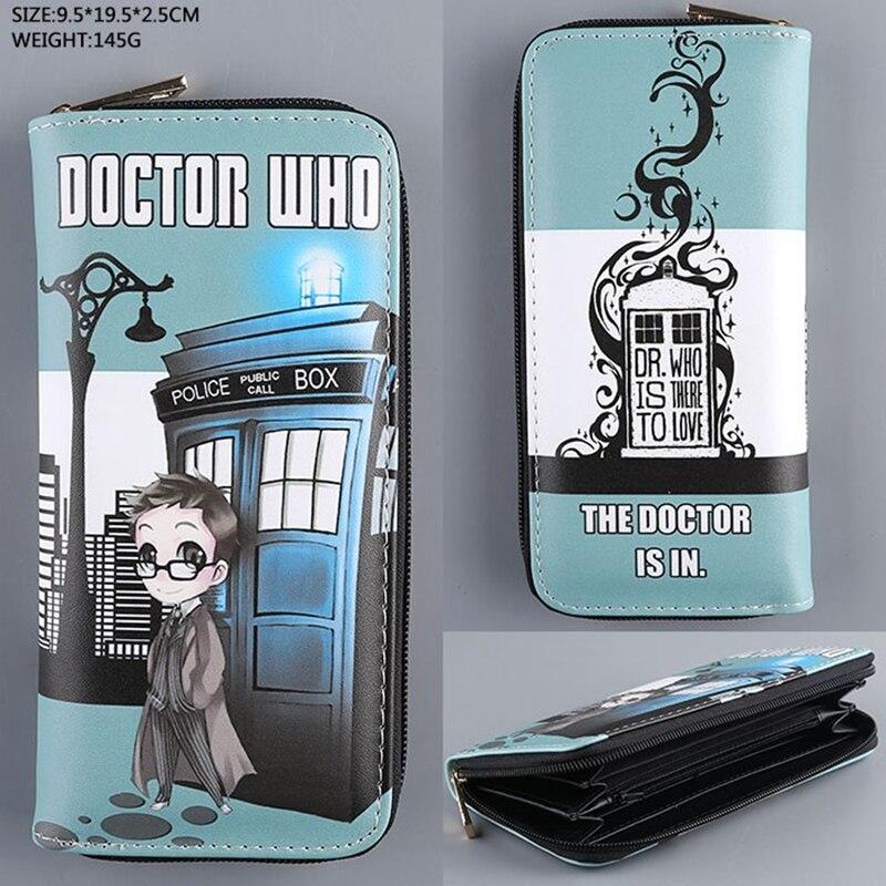 Doctor Who Wallet Dr Who PU Purse Toys Zipper Long Wallets Purses Tardis Cosplay Money bag gift Men Wallet L004