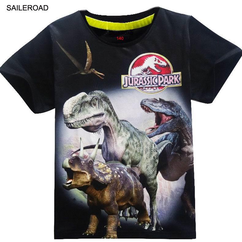 4-11Years Old Children Kids Shorts Tops Tees T Shirt Summer Teenager Boys Girls T-Shirt For Dinosaur Summer Shirts SAILEROAD 2