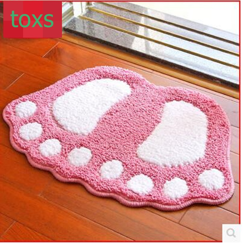 Bathroom absorbent pad doormat mat slip-resistant pad child carpet cartoon cushion48cm*67cm per piece