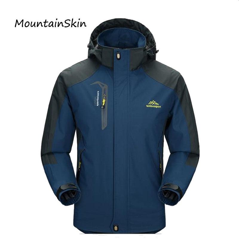 2017 New Men's Casual Jackets Man's Army Waterproof Coats Male Jacket Breathable Windproof Raincoat Plus Size L-5XL LA025