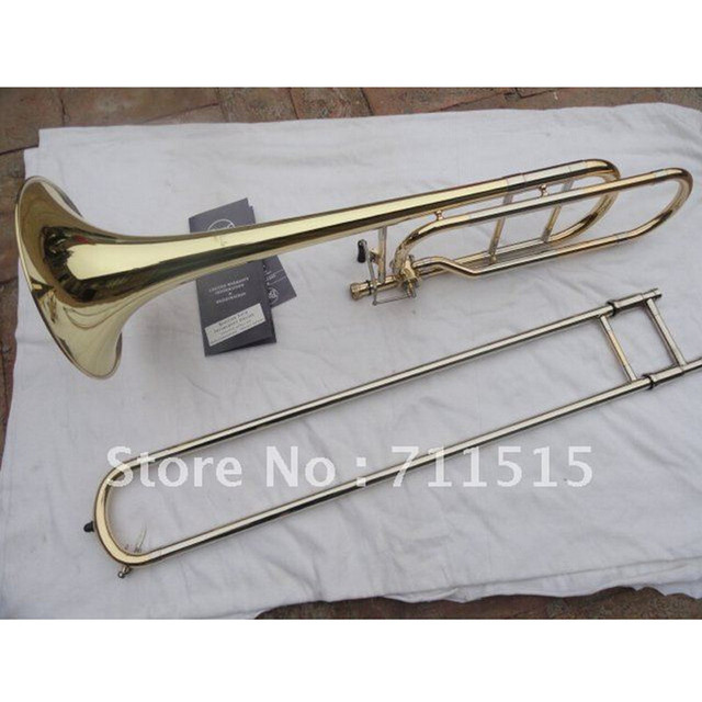 Cheap Bach Gold Lacquer 42BO senior sandhi Tenor Trombone Imports 95 Alloy Copper Brass Musical Instrument Bb Trombone tuba