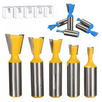 5pcs High Quality 1 2 Shank Dovetail Joint Router Bits Set For Woodworking Tools