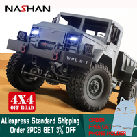 Nashan 1:16 RC Truck WPL RC Crawler Car 6WD 2.4G Mini Off Road Remote Control Car 15km/H Top Speed Mini RC Monster Truck for Boy