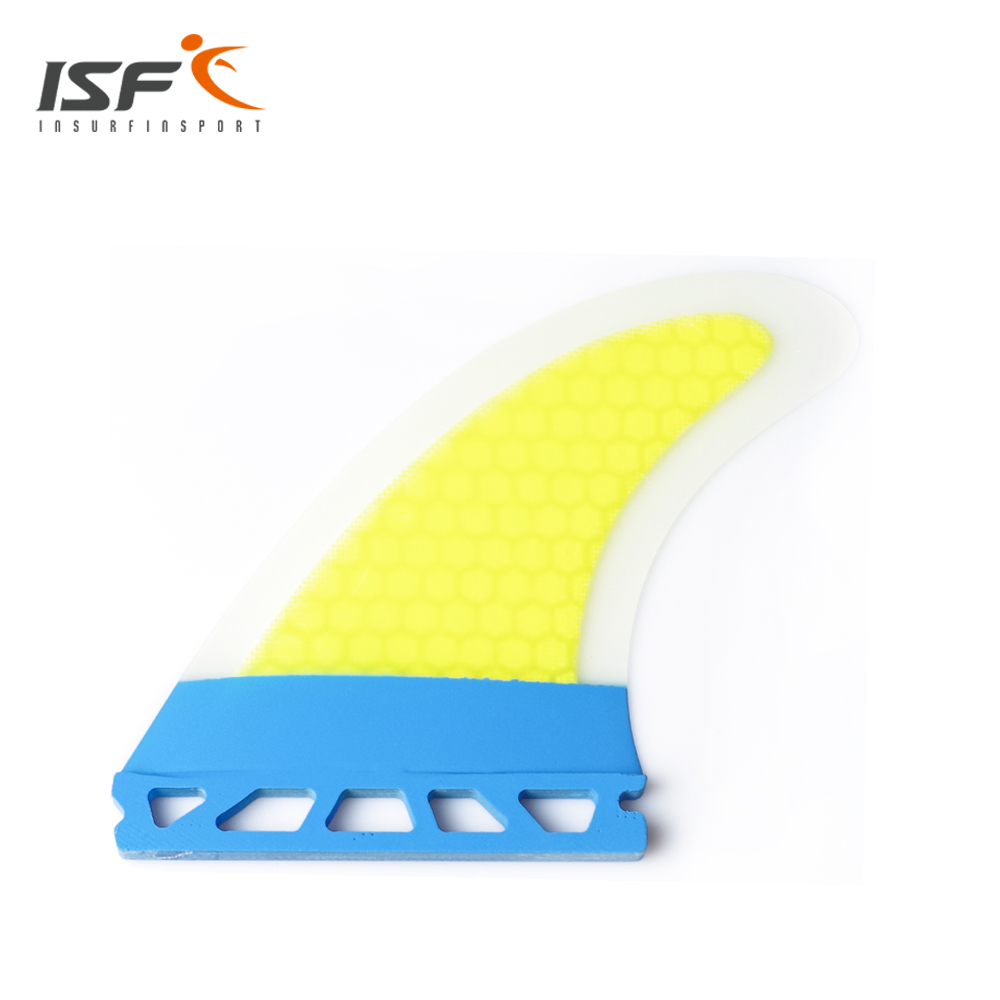 ФОТО Hot sale Thruster Future Painting honeycomb Yellow strip Surf Fin M7 fin Set (3 PIECE)