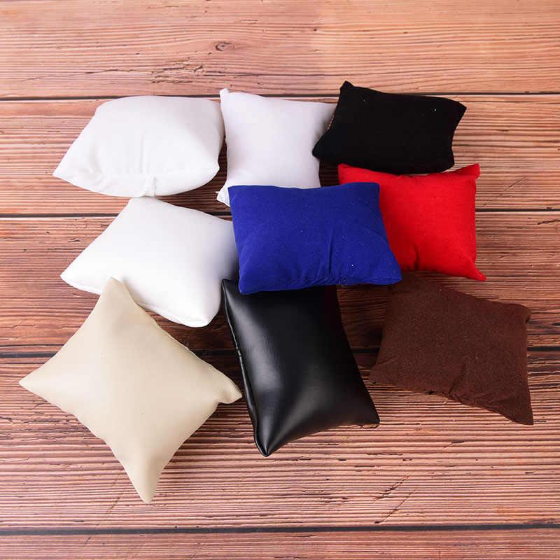 1 шт. PU или бархат кожаный браслет подушка для часов Коробки для показа ювелирных изделий держатель организаторы