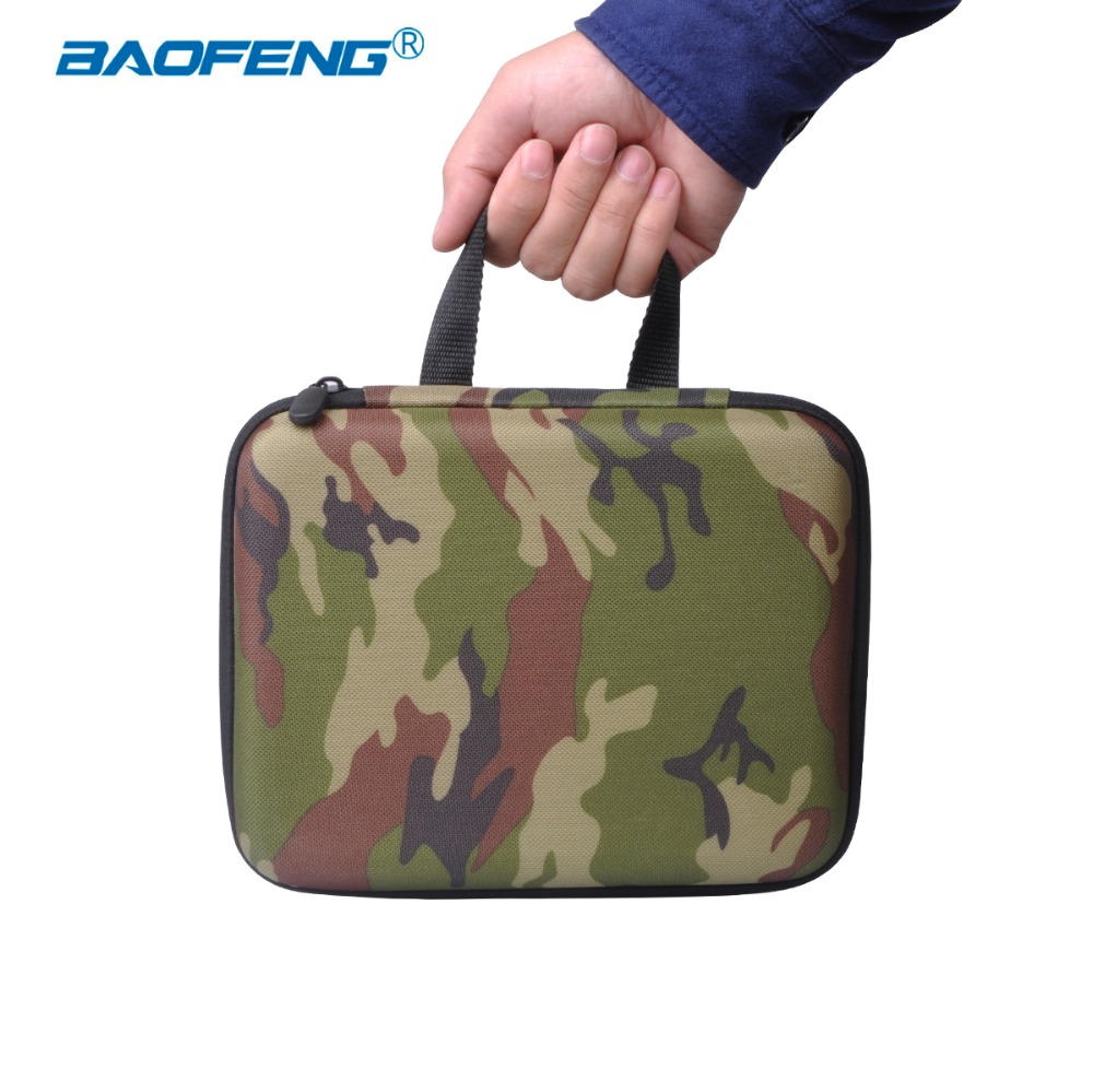 Baofeng UV-5R Walkie Talkie Camouflage Handbag UV 5R Radio Nylon Protect Portable Storage Case For 5RE 5RA Radio Accessories