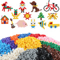 DIY Строительные Блоки 200 шт. Массовые Кирпичи Игрушки для Детей Образовательных Совместимы основные фирменные блоки brinquedos Смешанные 15 Цветов