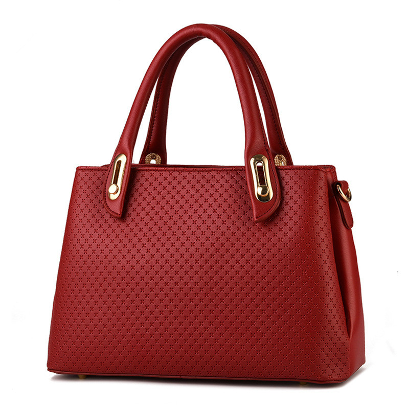 High Quality Red Casual Office Lady Business Handbag PU Clutch Fashion Women Shoulder Bag Zipper elegant pu office lady business handbag casual clutch fashion women shoulder bag zipper pink