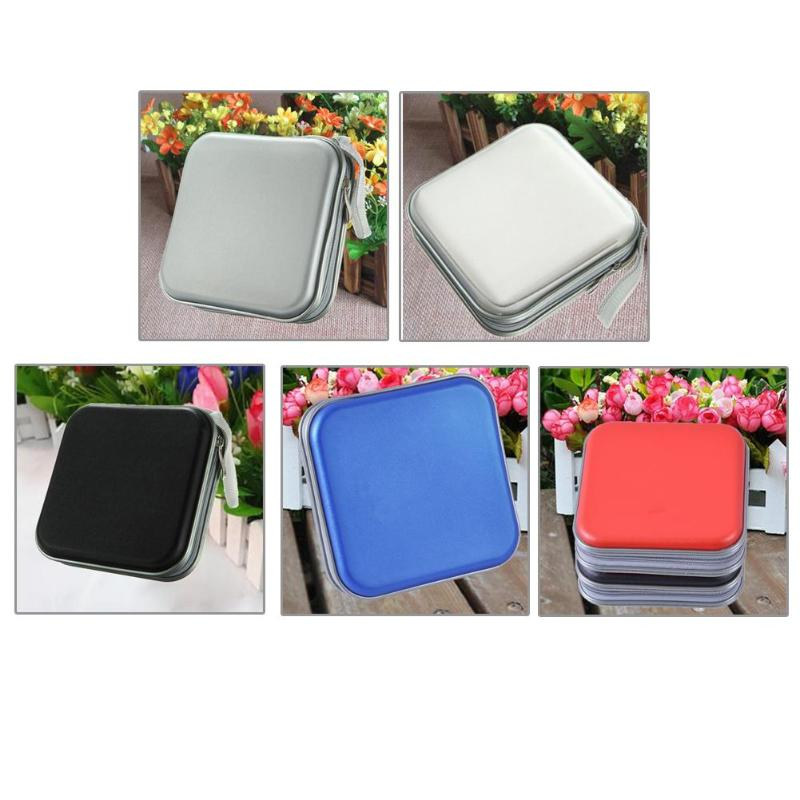 ALLOYSEED Portable CD case 40pcs Capacity Disc CD DVD Wallet Storage Organizer Case Holder Sleeve Wallet CD DVD Storage Case