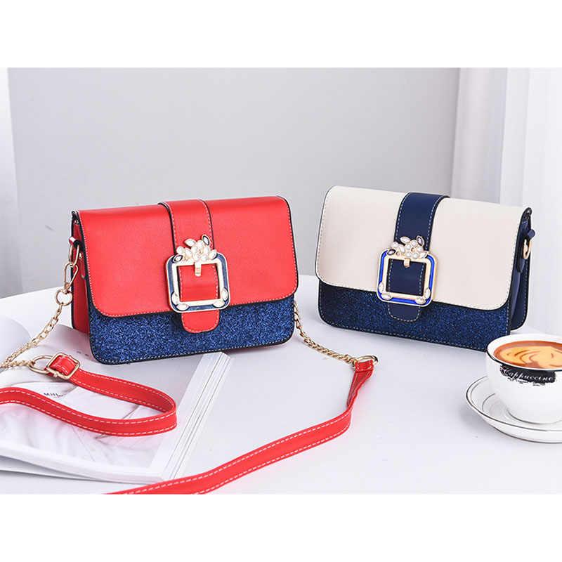 Роскошная сумка через плечо с цепочкой, сумки на плечо, расшитые блестками, маленькие женские сумки-мессенджеры, женские дизайнерские сумки с золотой пряжкой, Лолита