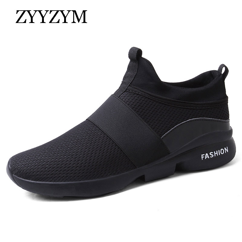 ZYYZYM Men Sneakers Spring/Autumn Casual Shoes Breathable Fashion Mesh