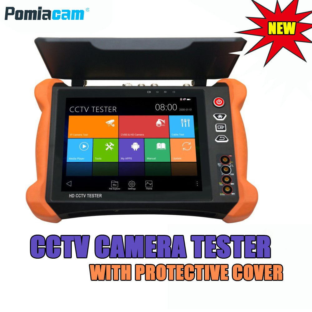 X9 8inch Touch screen H.265 4K 8MP IP Camera Tester 2K TVI CVI AHD SDI CVBS CCTV Tester Monitor with TDR, Cable tracer DHL Free