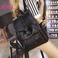 Женщины известных брендов рюкзак bolsos mujer старинные рюкзаки черный Высокое качество ПУ кожа рюкзак школьный дорожная сумка рюкзак
