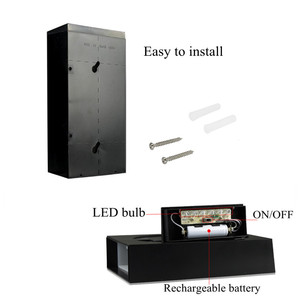 Image 4 - House Number Solar Light LED Bulb Digital Solar Powered Lamp Wall Mount Illumination Doorplate Porch Lights With Battery