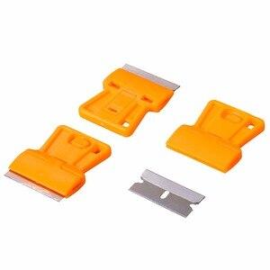 Image 4 - EHDIS – grattoir de rasoir + 10 pièces, lame de rasoir, outils de teinte de fenêtre, raclette de voiture en vinyle, dissolvant de colle autocollant de style de voiture