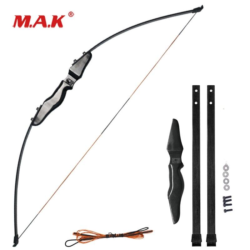 Nouvel arc droit de 51 pouces avec membres en fiber de verre de 30 livres pour les activités de tir à l'arc
